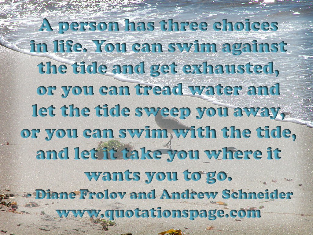 Water Is Life Quote Quote Details Diane Frolov And Andrew Schneider A Person Has