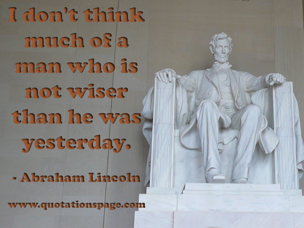 quote details abraham lincoln i don 39 t think much the quotations page. Black Bedroom Furniture Sets. Home Design Ideas