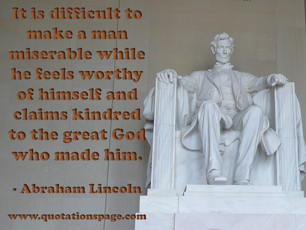 Quote Details Abraham Lincoln It Is Difficult To The