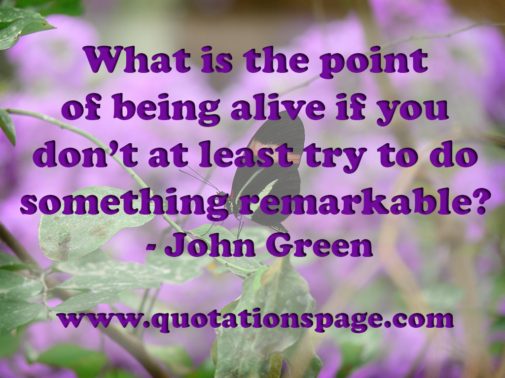 quote details john green what is the point the quotations page